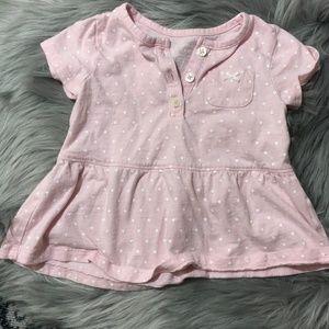 Carters pink Peplum shirt 18M girl